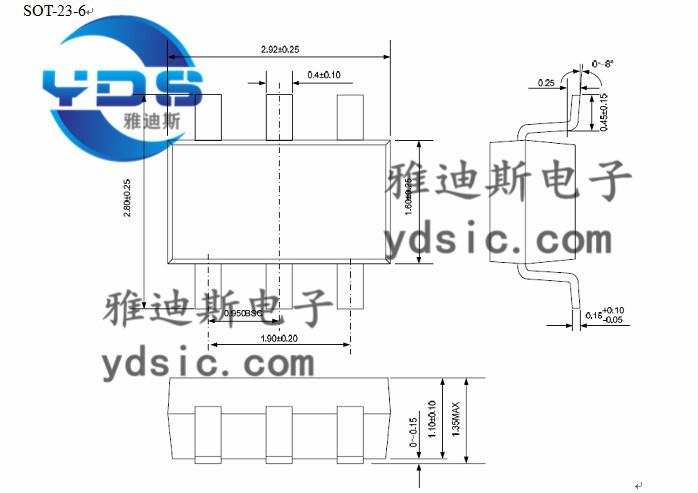dw01/8205/锂电池保护板/sot23-6/电源管理ic/pdf